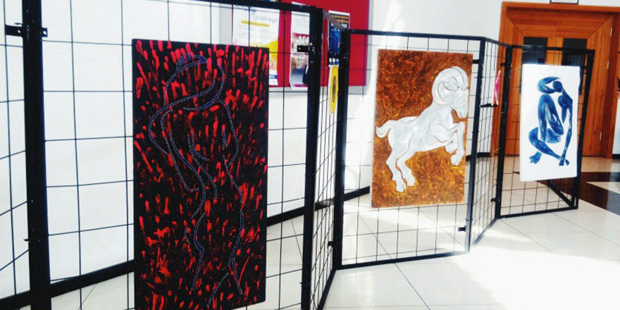 Habiba Hüseynova'nın String Art sergisi…