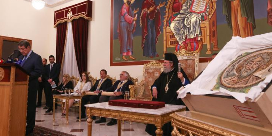 """Apostolos Andreas mozaiği"" teslim edildi"