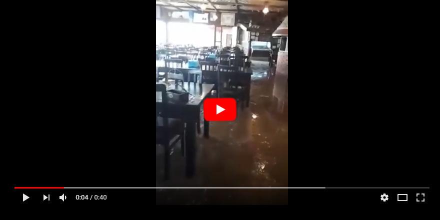 Aspava Restaurant sular altında!