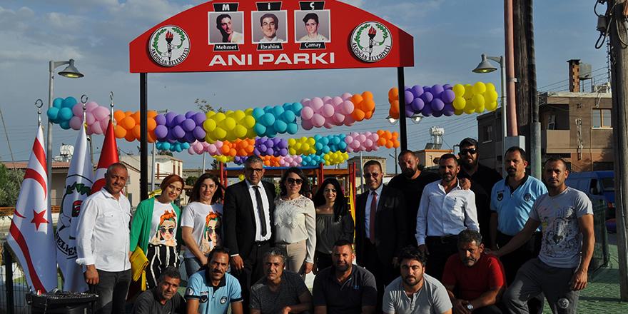 Akdoğan Belediyesi'nden üç gencin anısına park