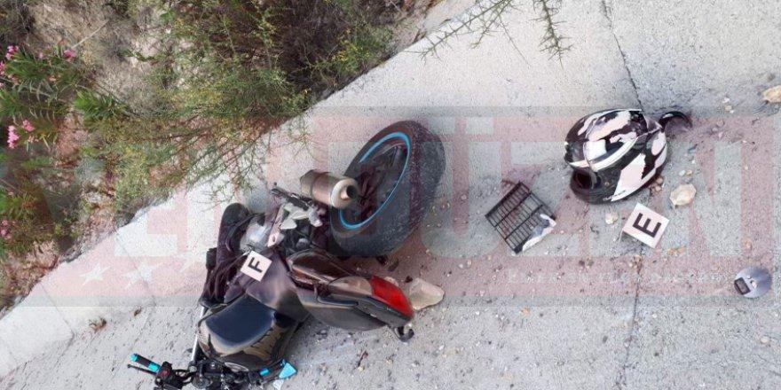 Motosiklet sürücüsü İsmail Koççat ağır yaralı!