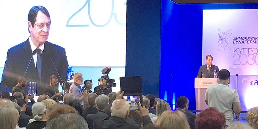 """Anastasiadis:""""Guterres Çerçevesi'nde masaya dönmeye hazırım"""""""