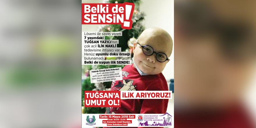 Minik Tuğsan için Girne'de kampanya