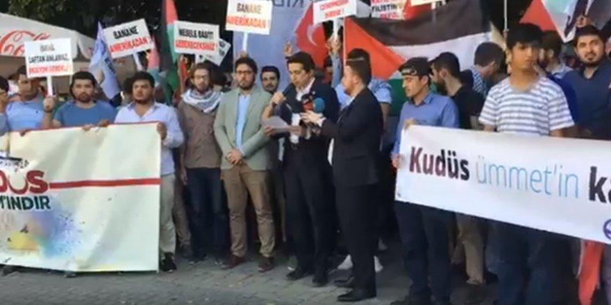 İsrail Lefkoşa'da protesto edildi