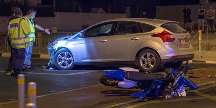 Limasol'da motor kazası: 1 ölü