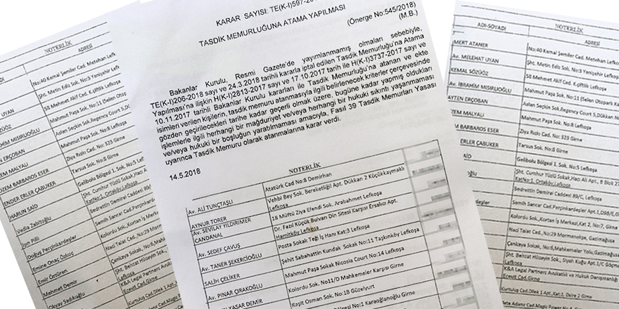 24 Mart'ta mührü iptal edilen 53 tasdik memuru, yeniden atandı