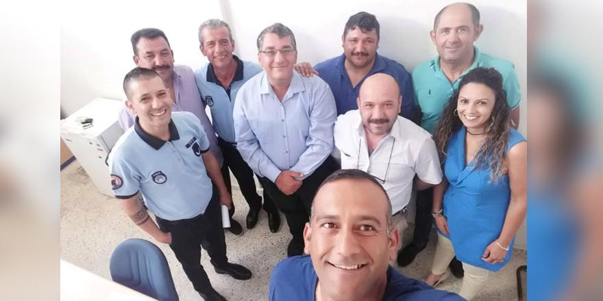 Gökçe, Mağusa Türk Genel İş Sendikası'nı ziyaret etti