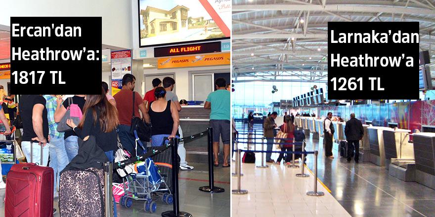 Adanın kuzeyindeki uçak biletleri hala cep yakıyor