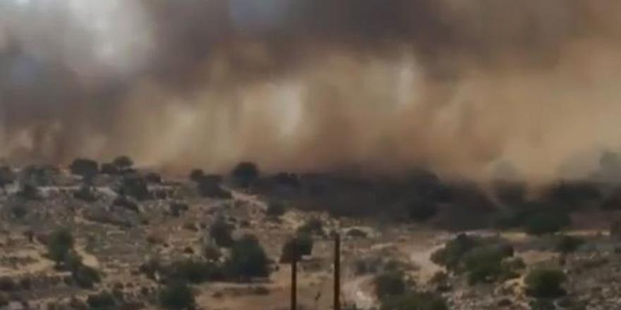 Limasol'daki yangına 14 itfaiye aracı müdahale ediyor