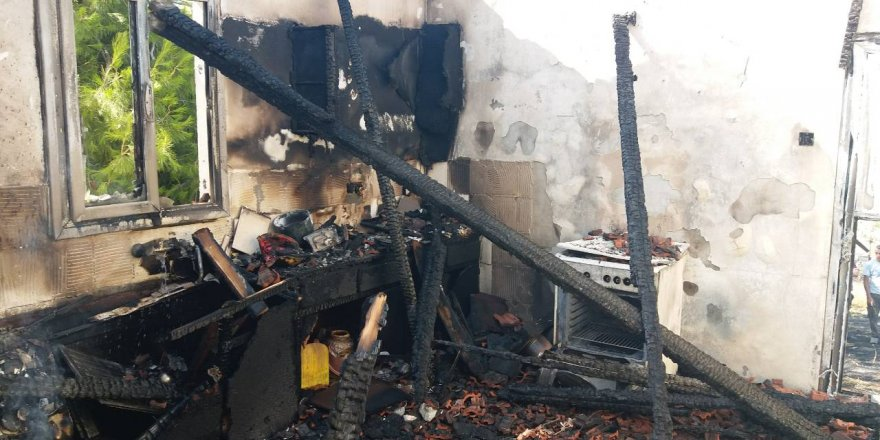 Doğancı'da ev yangını