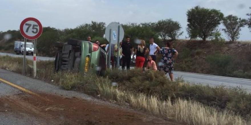Ulukışla kavşağında korkutan kaza: 1 yaralı