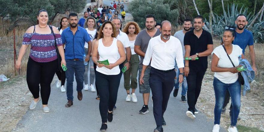Hasan Öztaş Çınarlı'da zeytin dalları ile karşılandı
