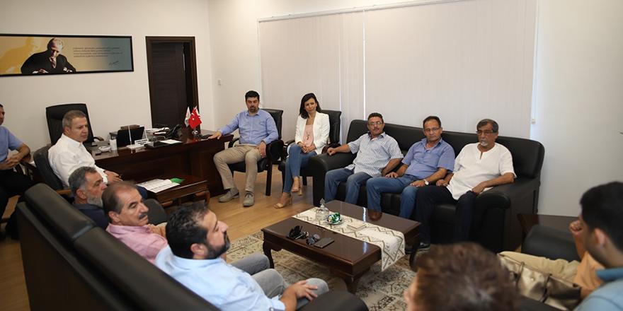 CTP'li LTB Meclis üyesi adayları ekonomi örgütlerini ziyaret etti