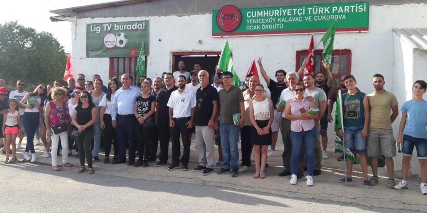 Karavezirler ve ekibi Mesarya köylerinde