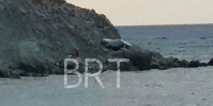 Aracıyla 50 metrelik uçuruma düştü