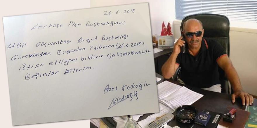 UBP'de yerel seçimin ardından ilk istifa: Kadıoğlu, istifasını sundu