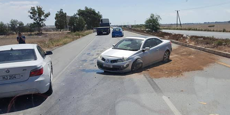 Düzova'da korkutan kaza