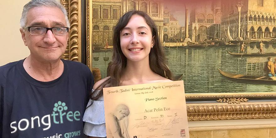 Pelin Ece Acar'a İtalya 'da ikincilik ödülü