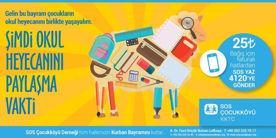 SOS Çocukköyü, Kurban Bayramı nedeniyle bağış kampanyası başlattı.