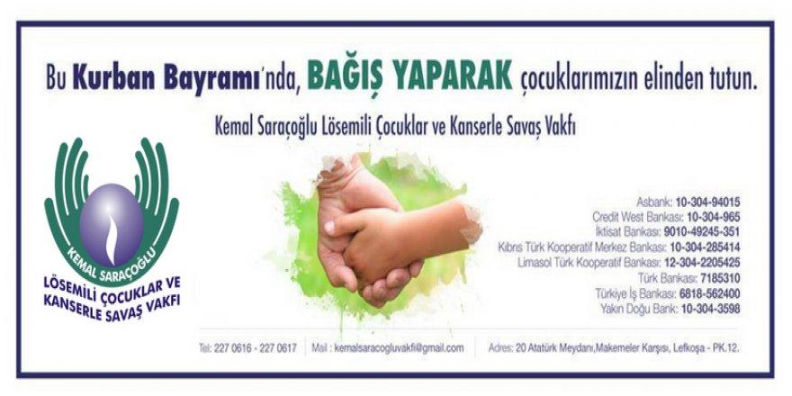 Kemal Saraçoğlu Vakfı bağış kabul edecek