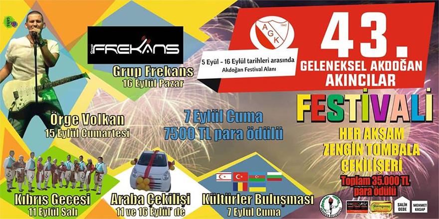 Akdoğan Festivali başlıyor