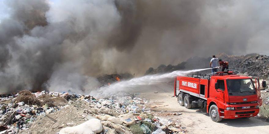 İskele Çöplüğü'ndeki yangın kontrol altında