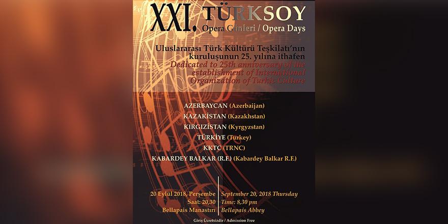 21. Türksoy Opera Günleri 20 Eylül'de…