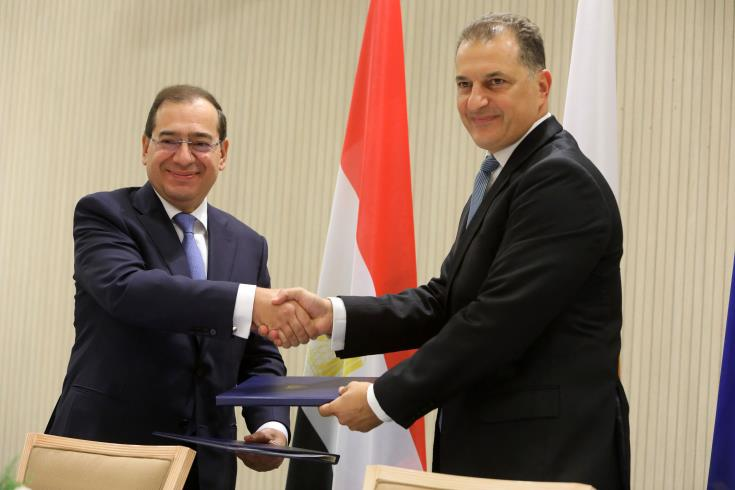 Denizaltı gaz boru hattı için Mısır ile Kıbrıs arasındaki anlaşma Lefkoşa'da imzalandı