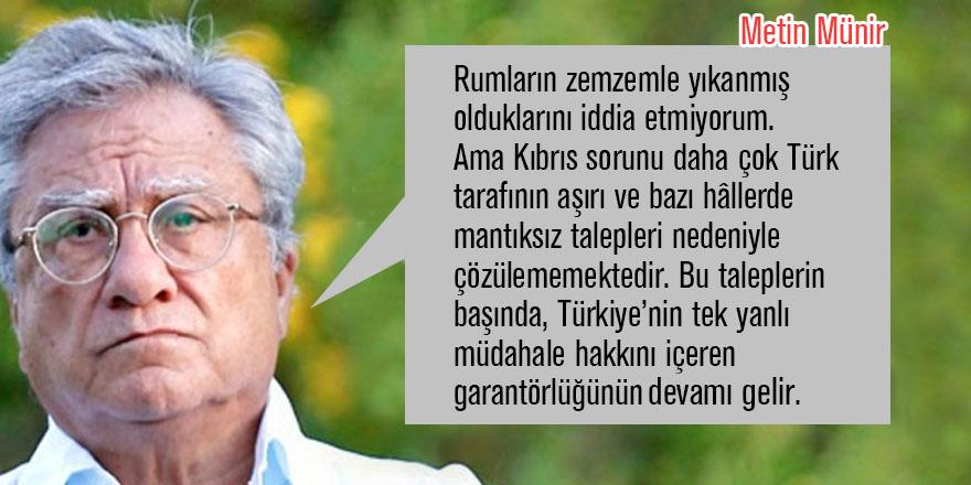 """""""Kıbrıs'ta çözümün en büyük engeli Türklerdir"""""""