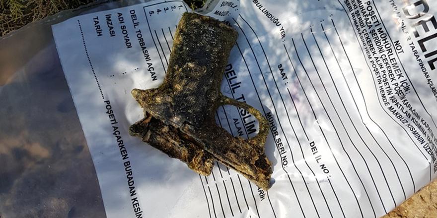 Denizde tabanca bulundu…