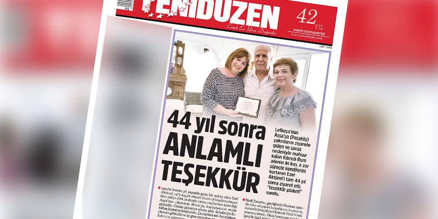 YENİDÜZEN'in manşeti güneyde yankı buldu