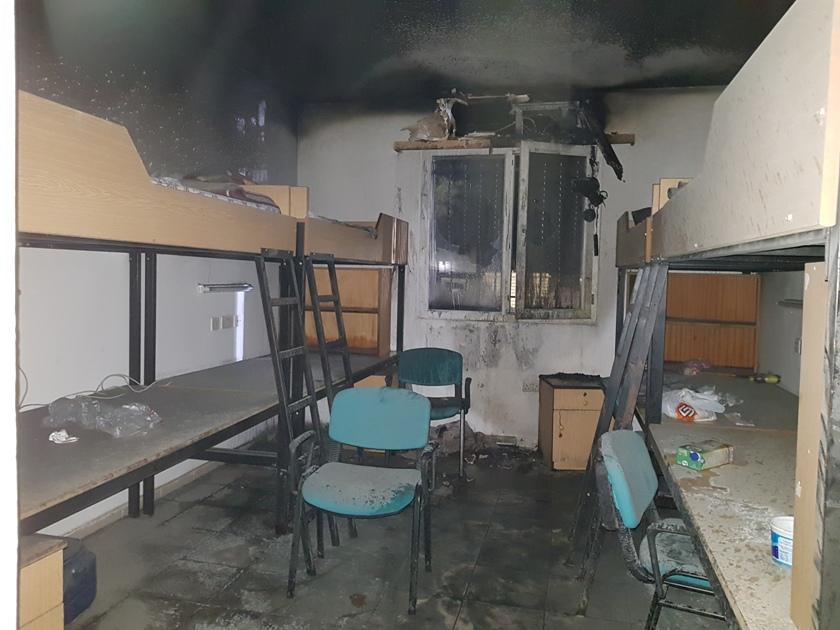 DAÜ'de yurt odasında yangın çıktı