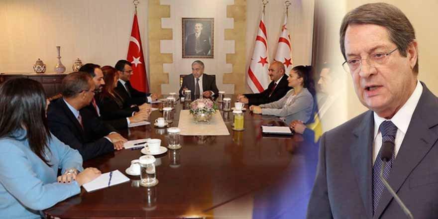 Kıbrıs Çalışma Grubu'ndan Anastasiadis'e ziyaret