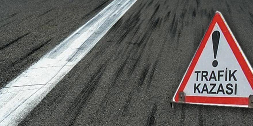 Girne'de kaza: Motor sürücüsü yaralandı