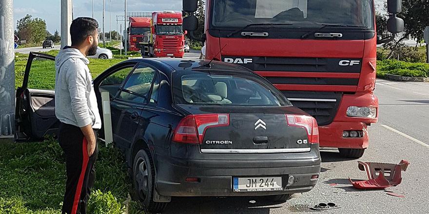 Dörtyol kavşağında kaza