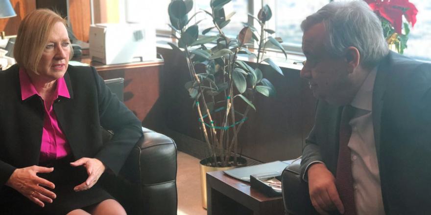 Guterres: Ufuk açıcı bir görüşme