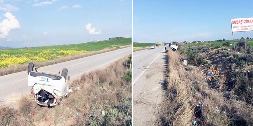 Geçitkale – İskele Anayolu'ndaki kaza korkuttu