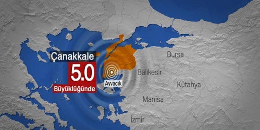 Çanakkale Ayvacık açıklarında 5,0 büyüklüğünde deprem
