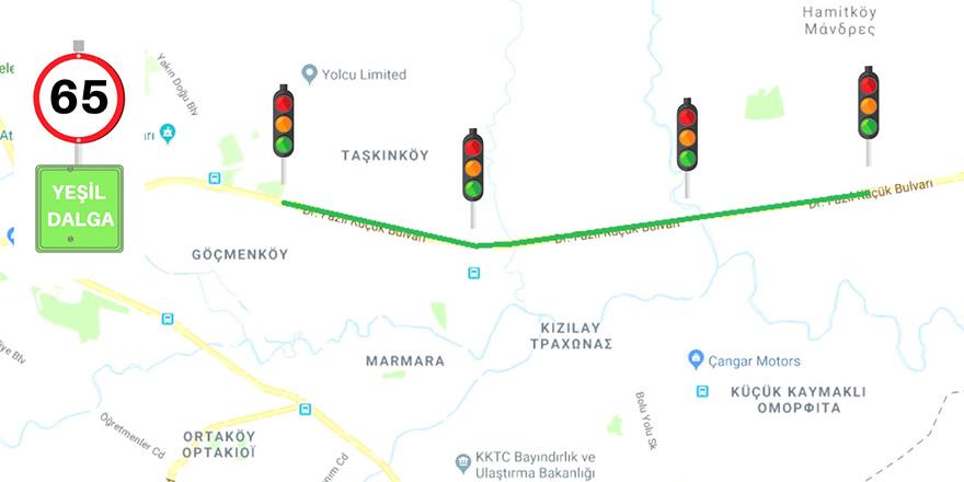 65 kilometrede seyreden sürücüler, kırmızı ışığa yakalanmayacak