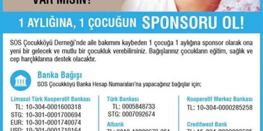 SOS'den Çocuk Sponsorluğu Kampanyası