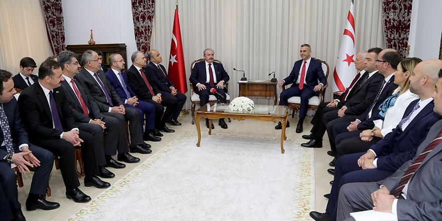 """Şentop: """"Kıbrıs konusu tüm dış temaslardan daha önemli ve öncelikli"""""""