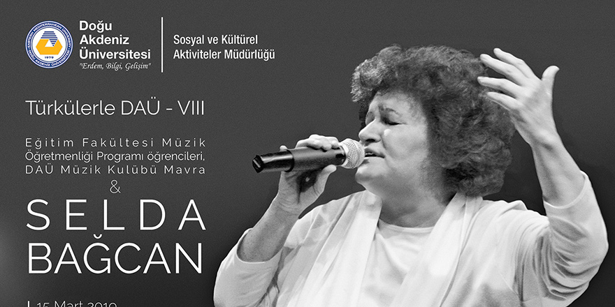 """Selda Bağcan """"Türkülerle DAÜ""""de"""