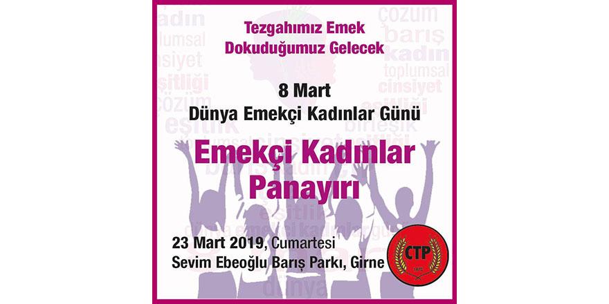'Emekçi Kadınlar Panayırı' Girne'de kuruluyor