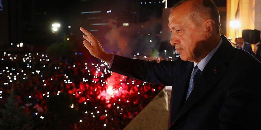 """Erdoğan,"""" Halkımız büyükşehirleri verse dahi ilçeleri AK Parti'ye verdi"""""""