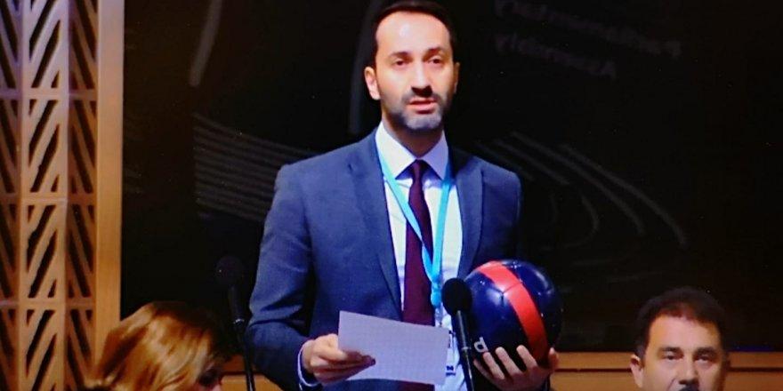 Futbol topuyla konuştu: Kıbrıslı Türk sporcular için!