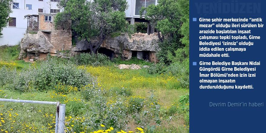 'Antik mezara zarar verildi' iddiası