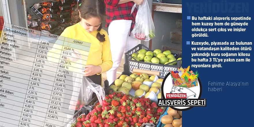 Kuru soğanın fiyatı arttı, salatalık yarı yarıya düştü