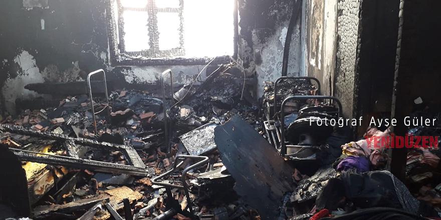 Yenikent'te yangın