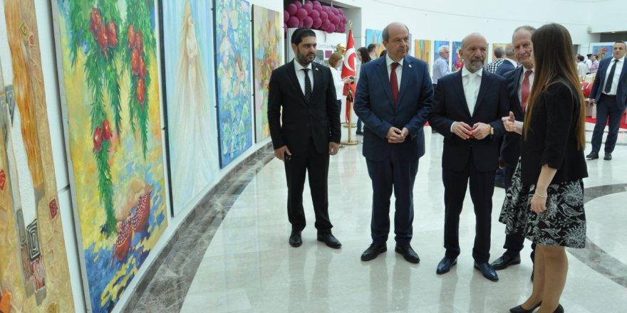 Türkmen ve Tatar sanatçıların sergisi açıldı
