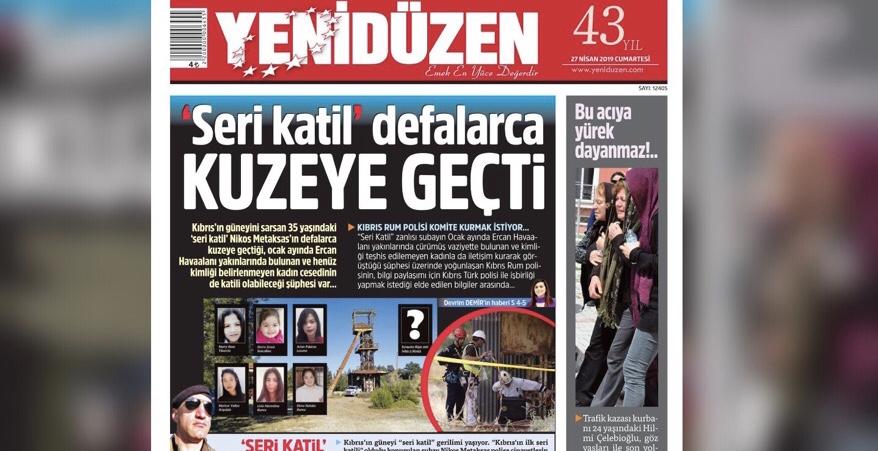 YENİDÜZEN 'in manşeti NTV'de